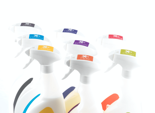 cleaning by colours trigger spray solutions